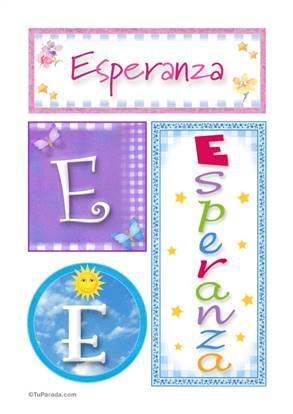 Esperanza, nombre, imagen para imprimir