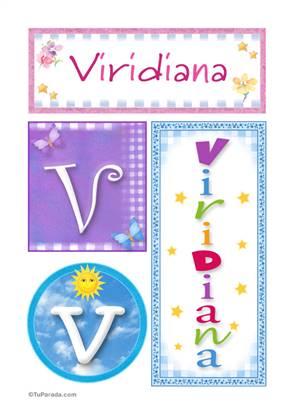 Viridiana, nombre, imagen para imprimir