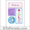 Ainhoa, nombre, imagen para imprimir