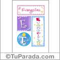 Evangelina, nombre, imagen para imprimir