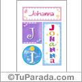 Johanna, nombre, imagen para imprimir