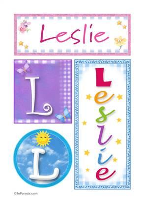 Leslie, nombre, imagen para imprimir