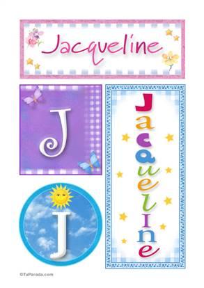 Jacqueline, nombre, imagen para imprimir
