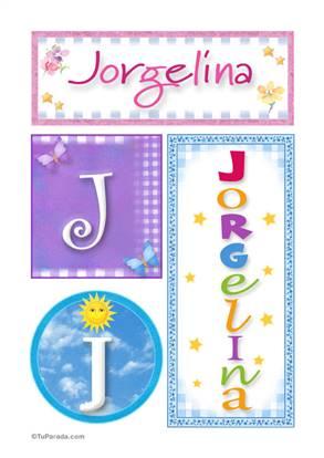 Jorgelina, nombre, imagen para imprimir