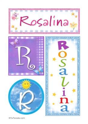 Rosalina, nombre, imagen para imprimir