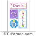 Darelis, nombre, imagen para imprimir