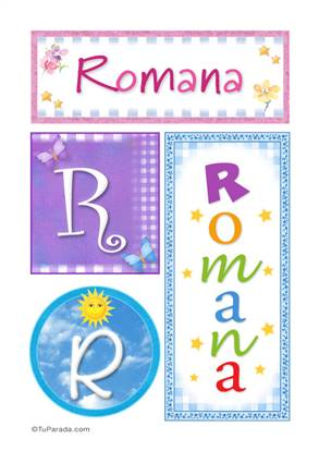 Romana, nombre, imagen para imprimir