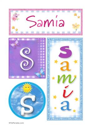 Samia, nombre, imagen para imprimir