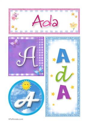 Ada, nombre, imagen para imprimir