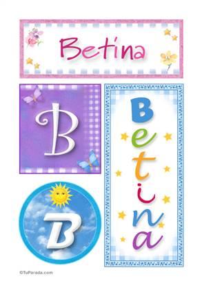 Betina, nombre, imagen para imprimir