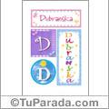 Dubranska, nombre, imagen para imprimir