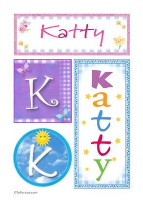 Katty, nombre, imagen para imprimir