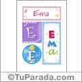 Ema, nombre, imagen para imprimir