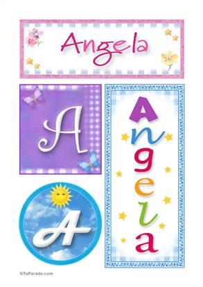 Angela, nombre, imagen para imprimir