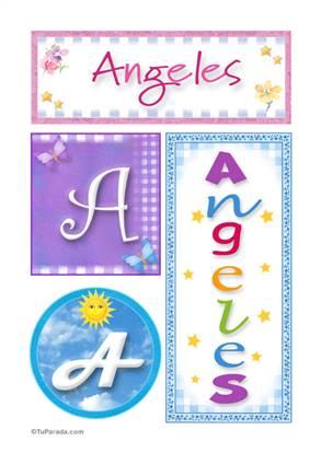 Angeles, nombre, imagen para imprimir