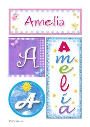 Amelia, nombre, imagen para imprimir