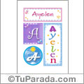 Ayelen, nombre, imagen para imprimir