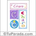 Charo, nombre, imagen para imprimir