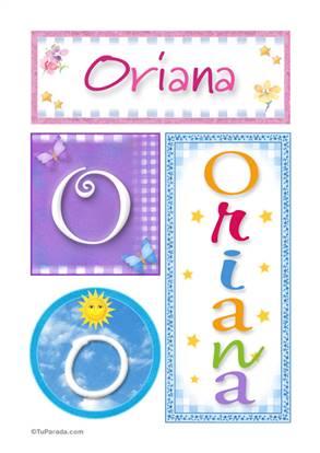 Oriana, nombre, imagen para imprimir