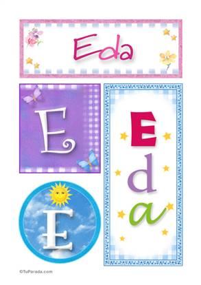 Eda, nombre, imagen para imprimir