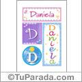 Daniela, nombre, imagen para imprimir