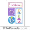Dalma, nombre, imagen para imprimir