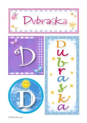 Dubraska, nombre, imagen para imprimir