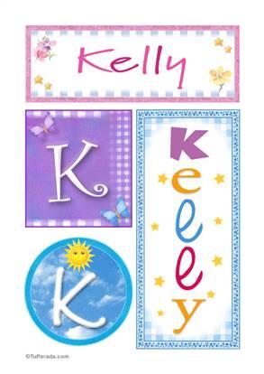 Kelly, nombre, imagen para imprimir