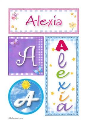 Alexia, nombre, imagen para imprimir
