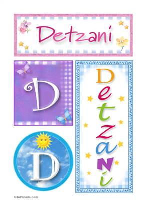 Detzani, nombre, imagen para imprimir