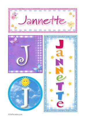 Jannette, nombre, imagen para imprimir