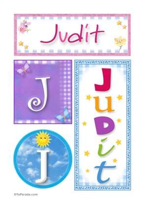 Judit, nombre, imagen para imprimir
