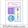 Sissy, nombre, imagen para imprimir