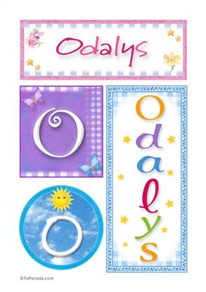 Odalys, nombre, imagen para imprimir