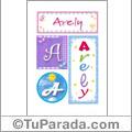 Arely, nombre, imagen para imprimir
