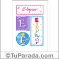 Elynor, nombre, imagen para imprimir