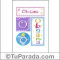 Oksana, nombre, imagen para imprimir