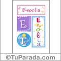Enoelia, nombre, imagen para imprimir