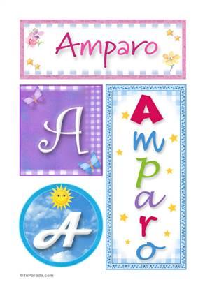 Amparo, nombre, imagen para imprimir