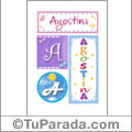 Agostina, nombre, imagen para imprimir