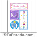 Kenia Judit, nombre, imagen para imprimir