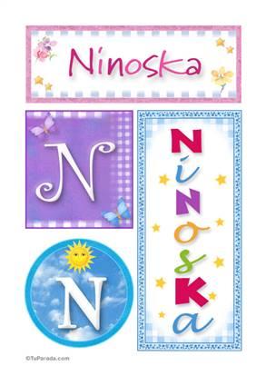 Ninoska, nombre, imagen para imprimir