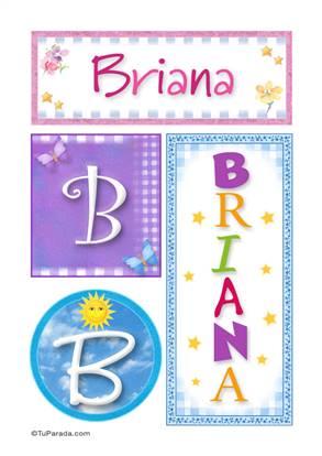 Briana, nombre, imagen para imprimir