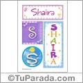 Shaira, nombre, imagen para imprimir