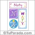 Naty, nombre, imagen para imprimir
