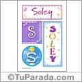 Soley, nombre, imagen para imprimir
