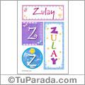 Zulay, nombre, imagen para imprimir