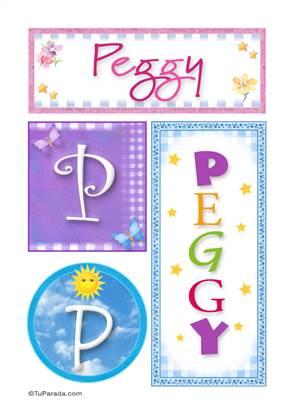 Peggy, nombre, imagen para imprimir