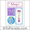 Maysi, nombre, imagen para imprimir