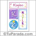 Kaylee, nombre, imagen para imprimir